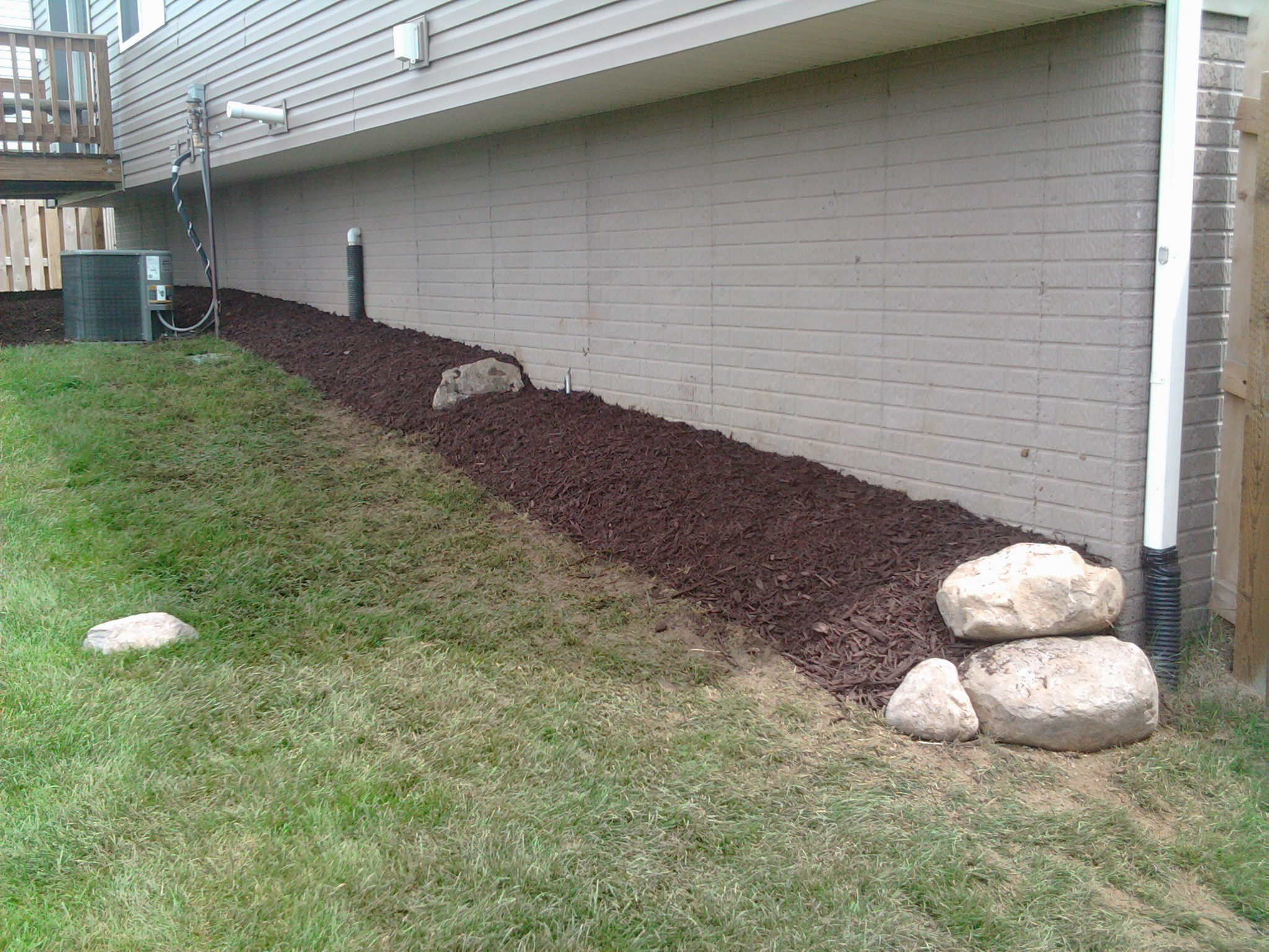Hoenman Landscape Bed Build And Drainage Fix Storm