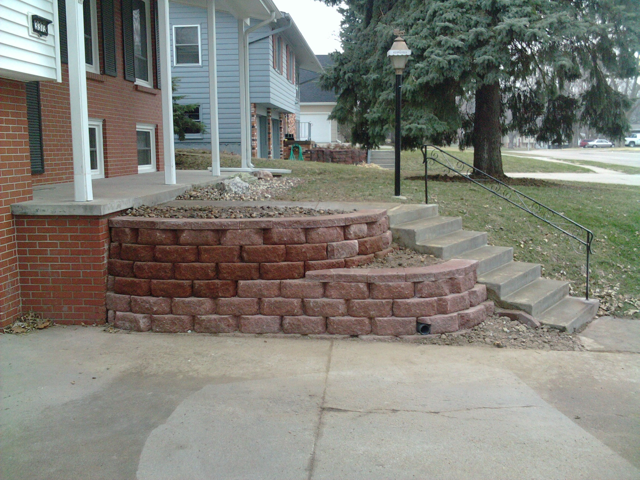 Jenson Retaining Wall Project Storm Irrigation Omaha NE