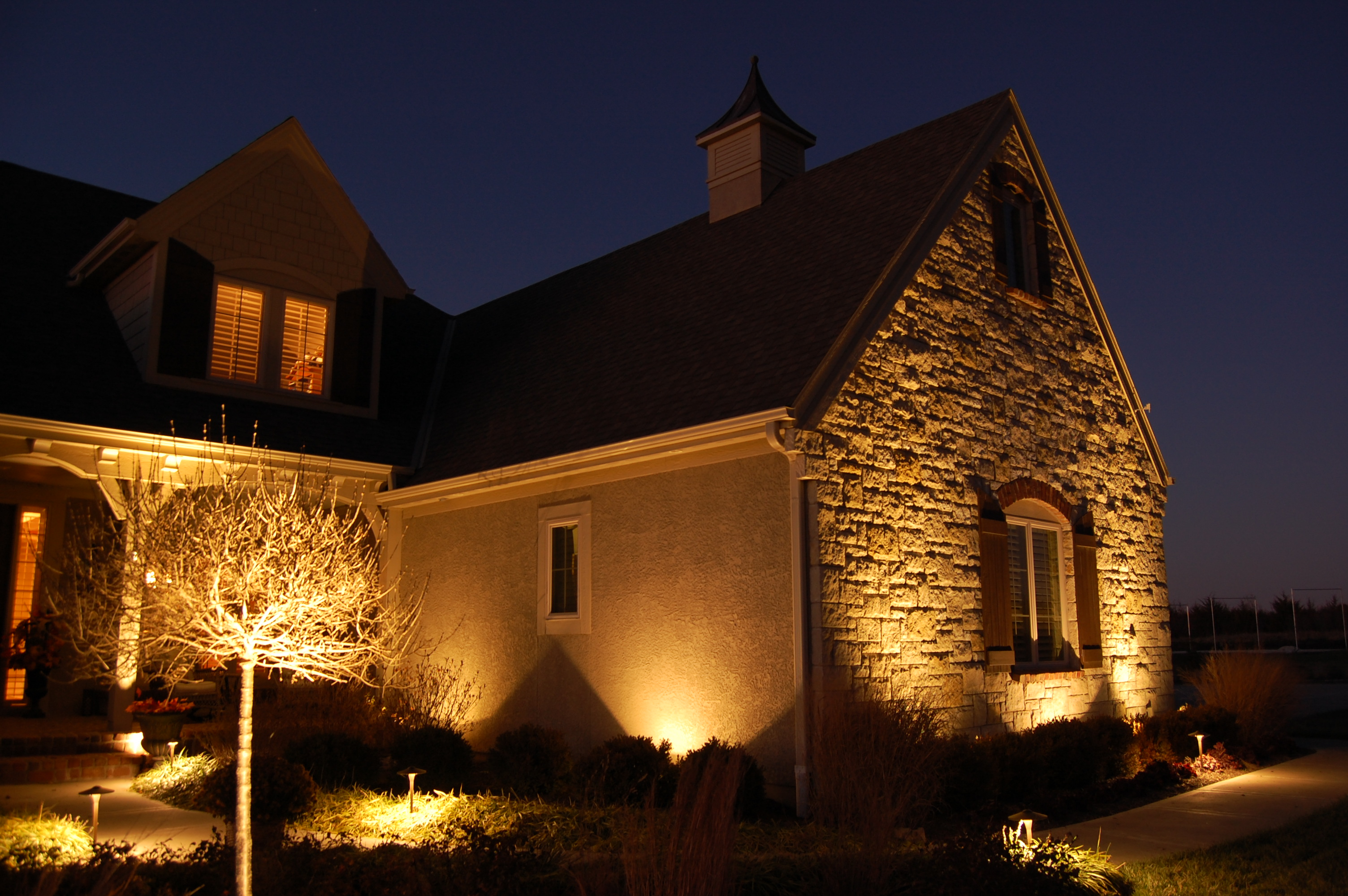 ... Custom Landscape Lighting In Omaha